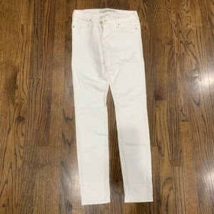 Abercrombie and Fitch Women's skinny Jeans white 0